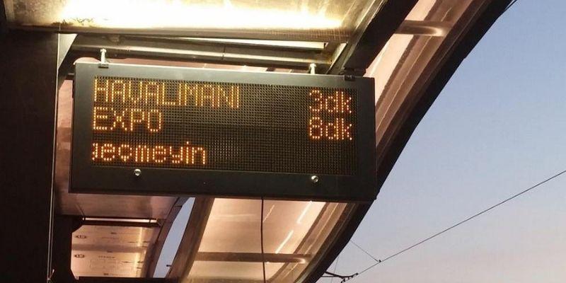 Antalya Expo Tramvay Hattı Yolcu Bilgilendirme Ekranları