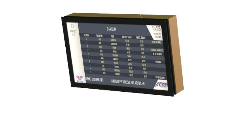 Avikon LCD Yolcu Bilgilendime Sistemleri