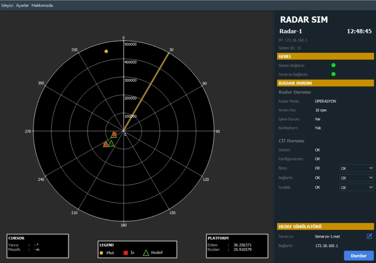 Radar Simülatör Yazılımları Avikon